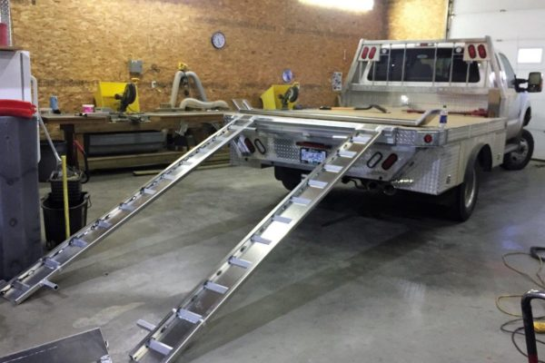 Aluminum Truck Deck with Ramps